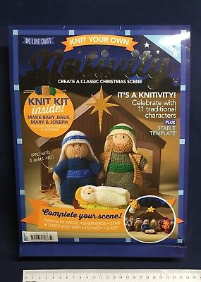 Knit Your Own Nativity Christmas Scene 11 Characters Patterns Yarn Needles