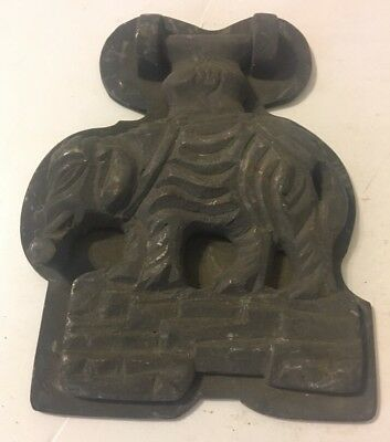 Unusual Vintage Brass or Bronze Elephant Figural Door Knocker