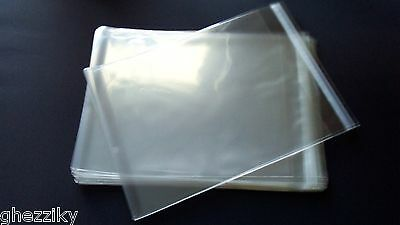 100 Pcs 11 1/4 x 17 1/4 Clear Resealable Cello / Poly Bags for 11x17 item