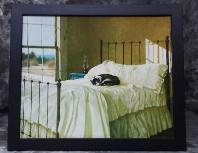 Cat Sleeping In An Iron Bed Framed Print -- Cat Lovers Look!!!!
