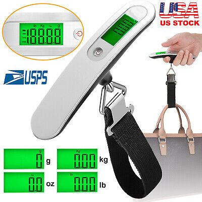 LCD Portable Travel Tare 110lb 50kg Hanging Digital Suitcase Luggage Scale Gift
