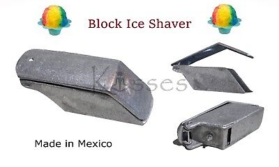 New Block Ice Shaver HEAVY-DUTY Hand Cast Aluminum Snow Cones Raspador de Hielo