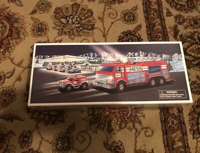 New 2005 Hess EMERGENCY TRUCK w/ RECUE VEHICLE Brand New Collectible NIB