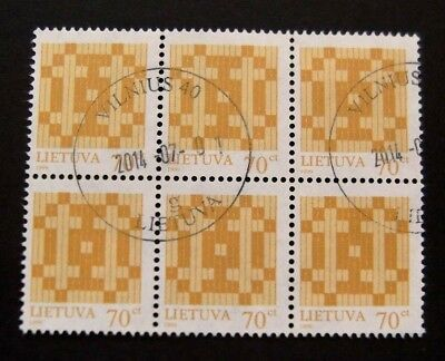 Lithuania-1999 series-Block of 6 70c issues-Used