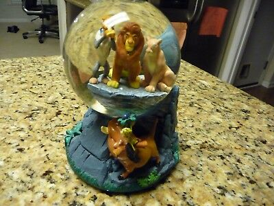 The Lion King Circle of Life water globe glitter snow simba Disney large musical