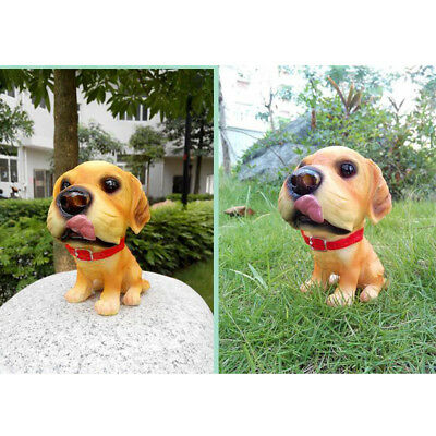 MagiDeal Vivid Animal Statue Sculpture Garden Statuary Decorations Cute Dog