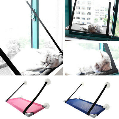 Window Mounted Cat Hammock with Suction Balcony Pet Bed Hanging Resting Seat