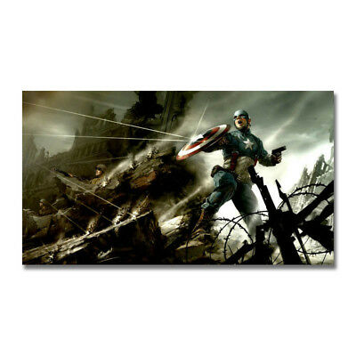 Captain America Hot Movie Art Canvas Poster Print 8x14 24x43 inch