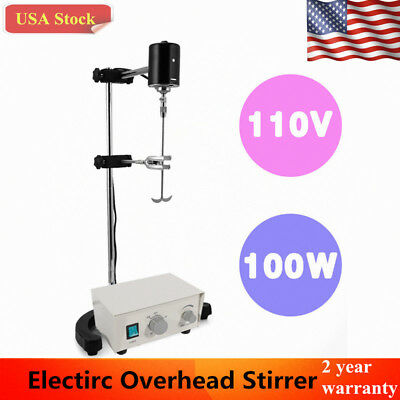 Electirc Overhead Stirrer Mixer Variable Speed Drum Mix Biochemical Laboratory