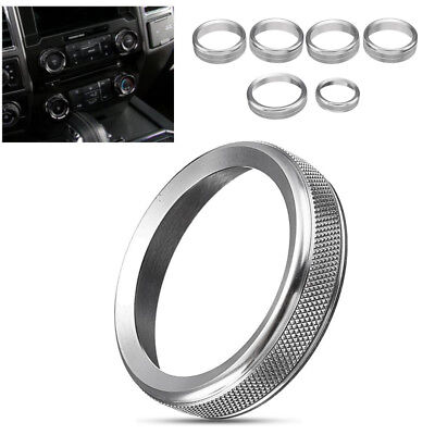 Silver Air Conditioner Audio Switch Decor Ring Cover Trim For Ford F150 2016-201