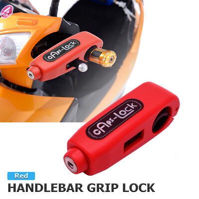 Motorcycle Grip Lock Scooter Handlebar Brake lever Universal Anti-Theft Lock