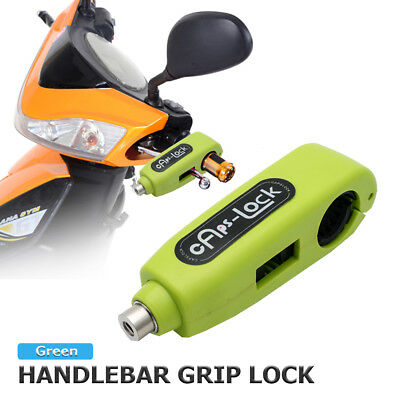Motorcycle Grip Lock Scooter Handlebar Brake lever Universal Anti-Theft Green