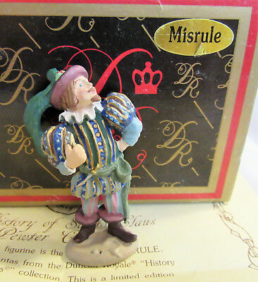 Duncan Royale MISRULE History of Santa Claus Pewter Miniature w/ Box & COA