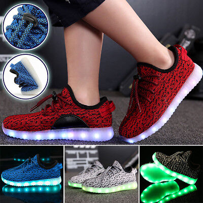 Adult Kids Fashion Casual LED Luminous Light up Shoes Sportswear Unisex Sneakers