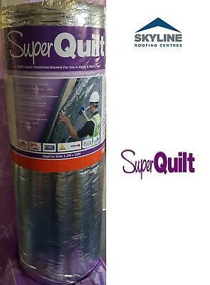 Super Quilt Multi Layer Insulation 1.2m x 10m For Use In Roofs, Walls And Floors