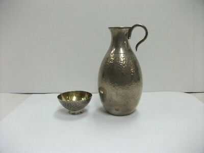 Japanese Antique Pure silver Decanter+Pure silver Cup. # 97g/3.42oz