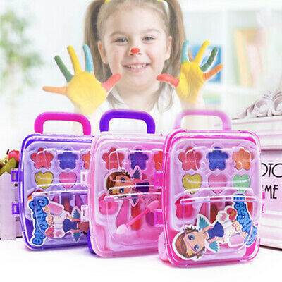 Princess Makeup Set Toy For Kids Cosmetic Girl Kit Eyeshadow Lip Gloss Blushes