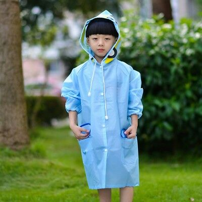 PVC KIDS RAINCOAT Jacket Outdoor Waterproof Cycling Unisex