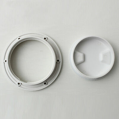 ABS Plastic Round Access Hatch Cover Lid Deck Plate Anti-slip Panel Boat/Marine