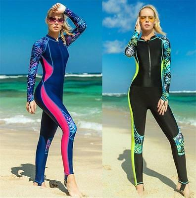 Women's Full Body Cover Thin Lycra Wetsuit Stinger Suit Diving Snorkeling Suits