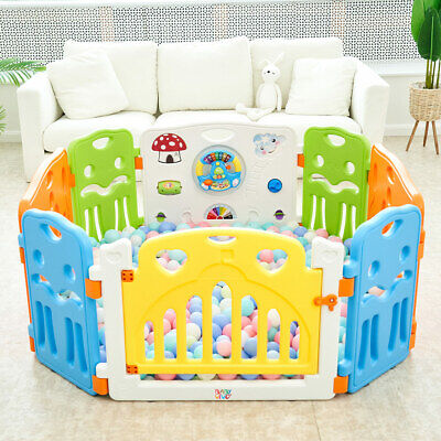 Playpen Plastic Play Pen Foldable Portable Room Divider Child Barrier Baby Vivo