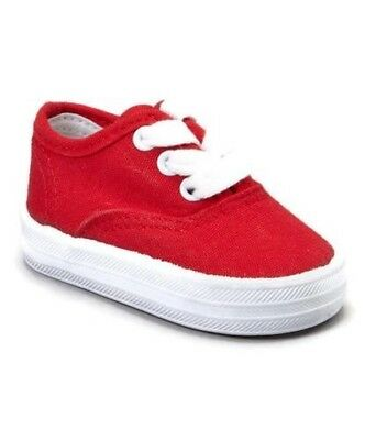 RED Canvas Oxfords Girls Infant Toddler 1-10 PITTER PATTER- NEW AND ADORABLE!v