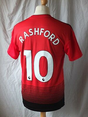 new product 62554 53150 NEW GENUINE MANCHESTER United 2018/19 Home Shirt RASHFORD 10 - Ex Shop  Display M