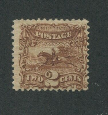 1869 US Stamp #113 2c Mint No Gum Fine Hinged G. Grill Catalogue Value