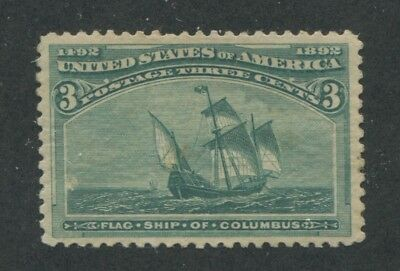 1893 US Stamp #232 3c Mint Never Hinged VF Catalogue Value
