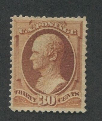 1888 US Stamp #217 30c Mint Hinged Very Fine No Gum Catalogue Value