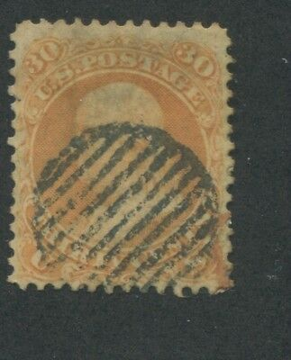 1861 US Stamp #71 30c Used Grid Canceled F/VF Catalogue Value
