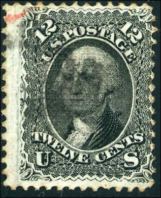 1868 US #97 A28 12c Used F. Grill Stamp Catalogue Value