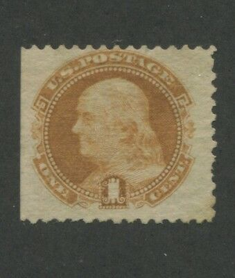 1869 US Stamp #112 1c Mint F/VF No Gum Hinged Catalogue Value