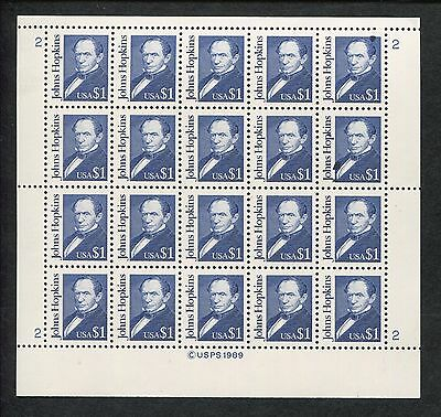 Full Sheet of 20 American Johns Hopkins US Stamps #2194d Brookman Price