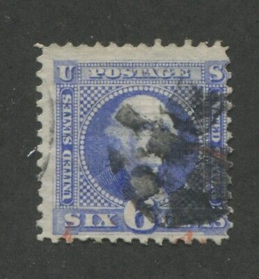 1869 US Stamp #115 6c Used F/VF Cork Cancel Catalogue Value