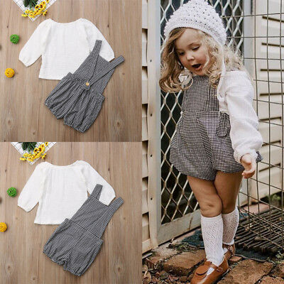 2Pcs Kids Baby Girls Clothing T-Shirt Puff Sleeve Tops+Shorts Set Summer Outfits