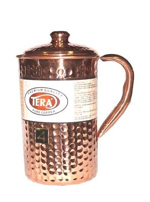 PURE COPPER WATER JUG HAMMERED / 1.6 Lit