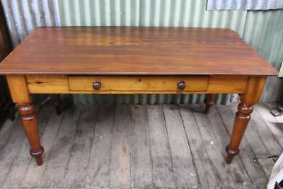 A Rustic Victorian Desk / Table with Drawer