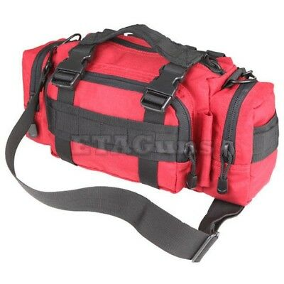 Condor 127 Red EMT EMS Medic DR Deployment MOLLE Modular Shoulder Go Bag Pack