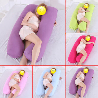 Pregnancy Body Pillow Cover U Shape Baby Maternity Comfort Bedding Cushion Case