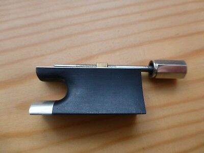 Violin Bow Frog And Screw, Antiquated Plain Style. Fine Quality, Uk Seller