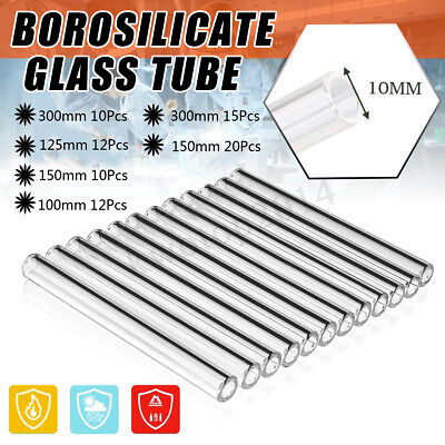 6 Types 300mm/125mm/150mm/100mm OD 10mm Borosilicate Glass Blowing Tube For Lab