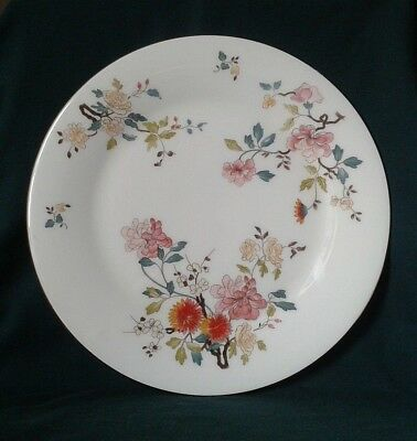 Vintage Bone China Dinner Plate By Royal Vale England Pink Red & Yellow Flowers