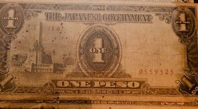Philipines - Japan occupation WWII Banknote 1 Peso 1943 P-109a
