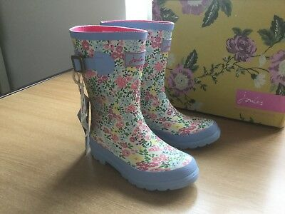 Joules Kids Girls Floral Cream Ditsy wellies/ wellington boots