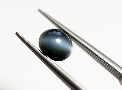 0.86 Ct Natural Alexandrite Cats Eye Loose Oval Cabochon Blue Chatovancy Gem A+