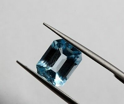 2.34 Ct Natural Brazil Bright Blue Color VS Eye Clean Octagon Cut Gemstone A+