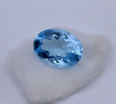 2.98 Ct Natural Topaz Loose Sky Blue Color Brazil Oval Cut Eye Clean Gemstone