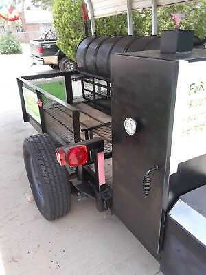 Barbarque Pit, Smoker,Disc,Double Grill on A 12' Trailer