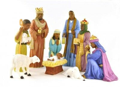 9 Piece Nativity Set: African American (19009) NEW 6 1/2 Inches Tall